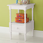 White Jenny Lind Small Nightstand