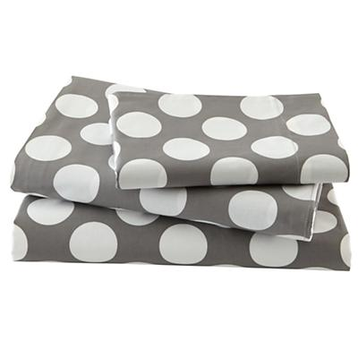 New School Grey w/White Dot Sheet Set (Twin)
