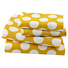 Queen Yellow w/White Dot Sheet SetIncludes fitted sheet, flat sheet and two pillowcases