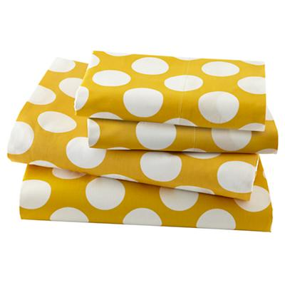 New School Kids Sheet Set (Yellow w/ White Dot)