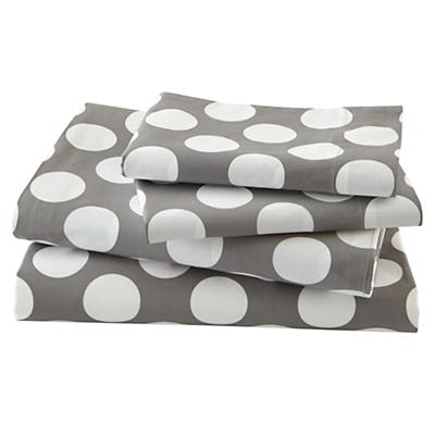 New School Sheet Set (Grey w/White Dot)