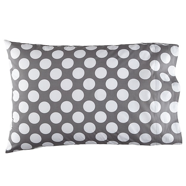 Organic New School New School Grey and White Dot Pillowcase