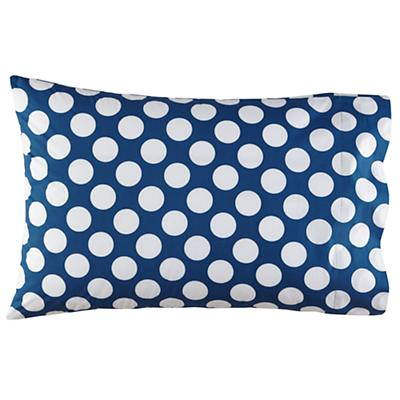Organic New School Blue and White Dot Pillowcase