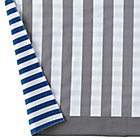 Blue & Grey Stripe Reversible Crib Skirt