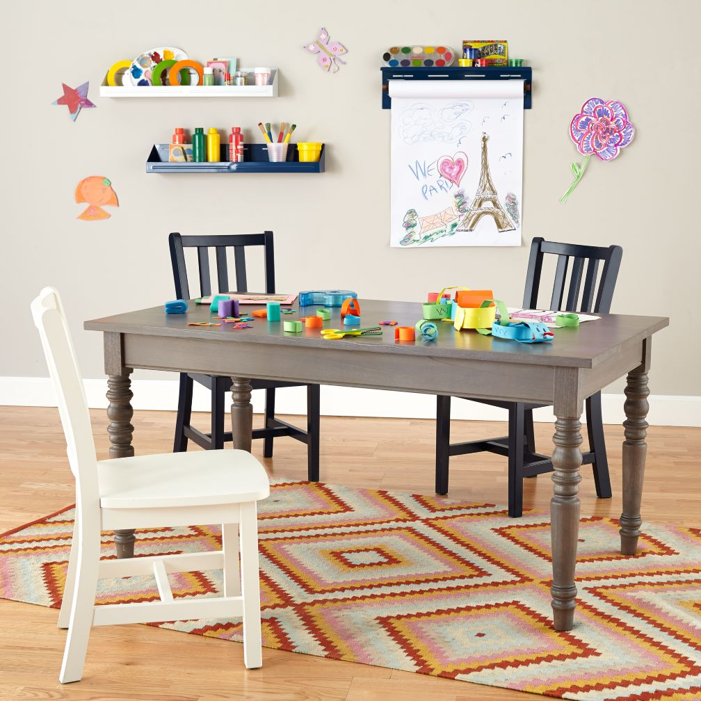 Everlasting Adjustable Height Grey Play Table