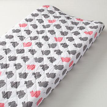 Hop To It Changing Pad Cover (Pink Bunny)