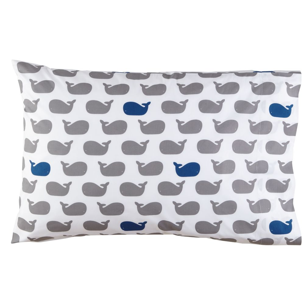 Organic Make a Splash Whale Pillowcase