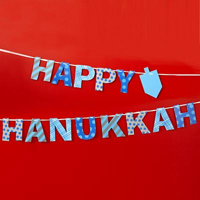 Happy Hanukkah Garland