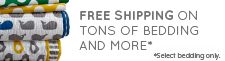 Free Shipping on tons of bedding and more. Select Bedding only.