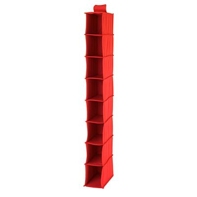I Think I Canvas Narrow Hanging Organizer (Red)