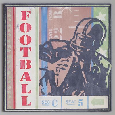 Football Ticket Wall Art