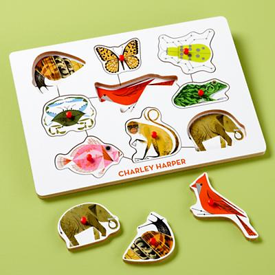 Charley Harper Animal Peg Puzzle