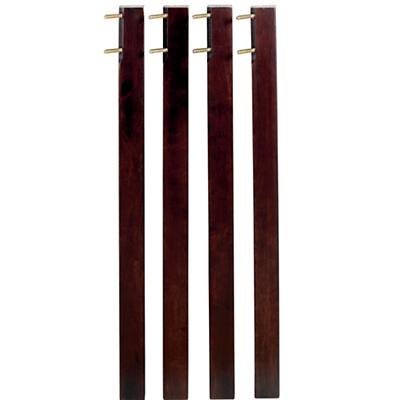Tall Espresso Activity Table Legs (set of 4)