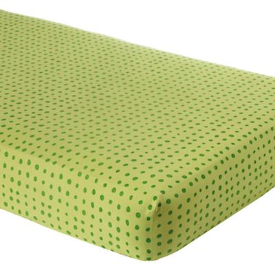 Green Dot Crib Fitted Sheet