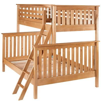 Natural Twin-Over-Full Bunk Bed