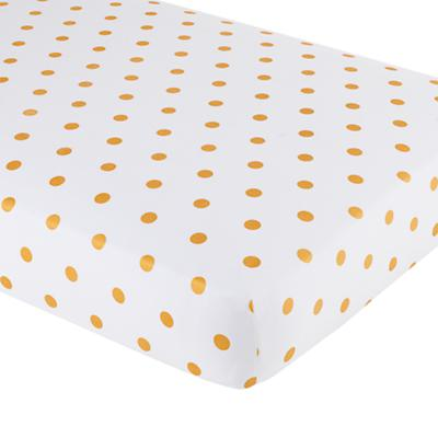 Gold Dot Crib Fitted Sheet