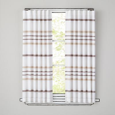 "63"" Wide Ruled Curtain Panel (Khaki)"