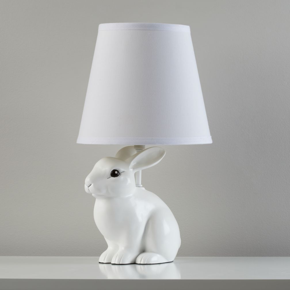 White rabbit table lamp the land of nod geotapseo Choice Image