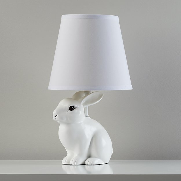 Abracadabra Bunny Lamp Abracadabra ... - White Rabbit Table Lamp The Land Of Nod
