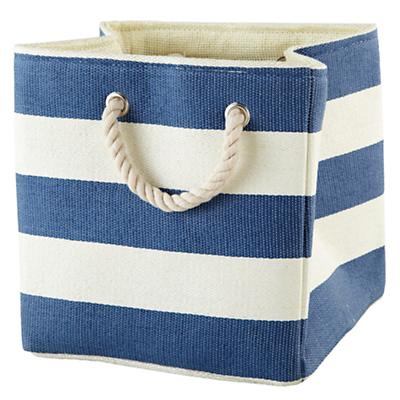 Stripes Around the Cube Bin (Dk. Blue)