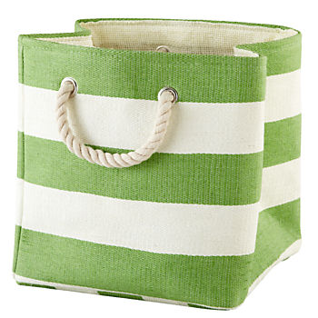 Stripes Around the Cube Bin (Green)