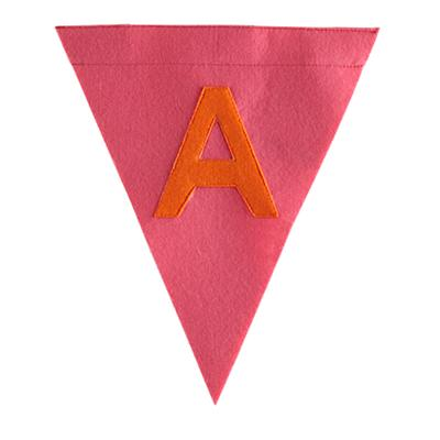 A Print Neatly Pennant Flag (Girl)