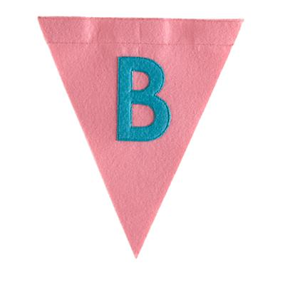 B Print Neatly Pennant Flag (Girl)