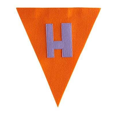 H Print Neatly Pennant Flag (Girl)