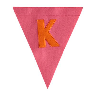 K Print Neatly Pennant Flag (Girl)