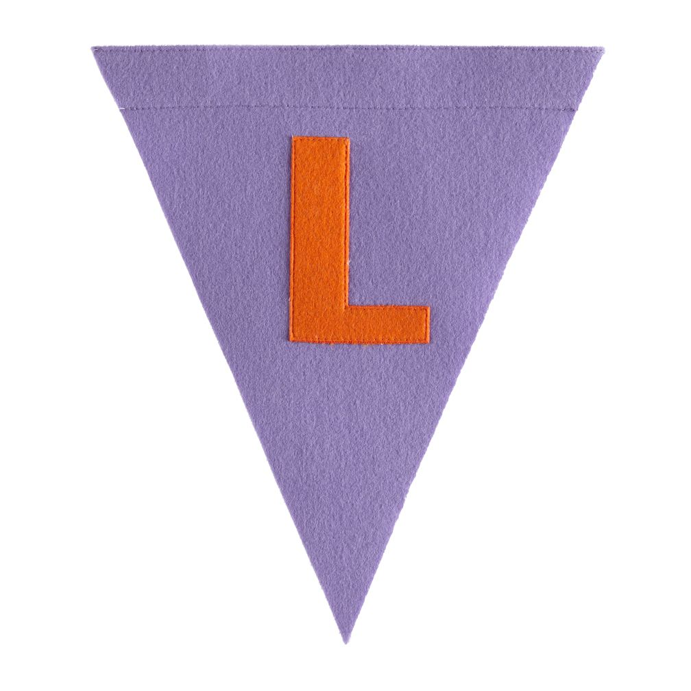 L Print Neatly Pennant Flag (Girl)