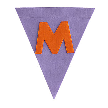 M Print Neatly Pennant Flag (Girl)