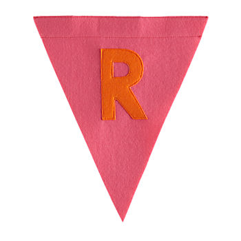 R Print Neatly Pennant Flag (Girl)