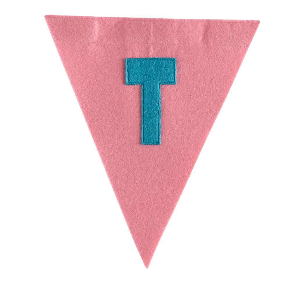 T Print Neatly Pennant Flag (Girl)