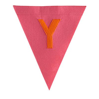 Y Print Neatly Pennant Flag (Girl)