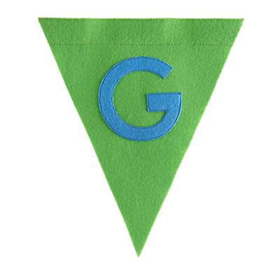 G Print Neatly Pennant Flag (Boy)