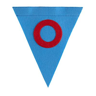 O Print Neatly Pennant Flag (Boy)