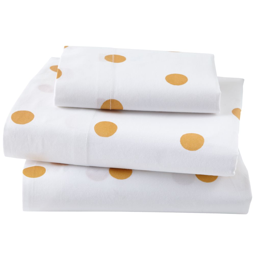 Organic Gold Dot Toddler Sheet Set