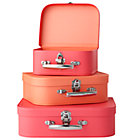 Bon Voyage Pink and Peach Suitcase Set