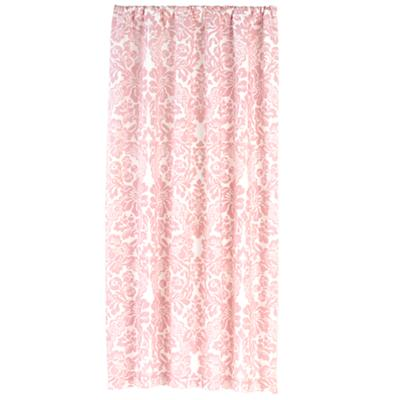 "84"" Wallpaper Floral Curtain Panel (Pink)"