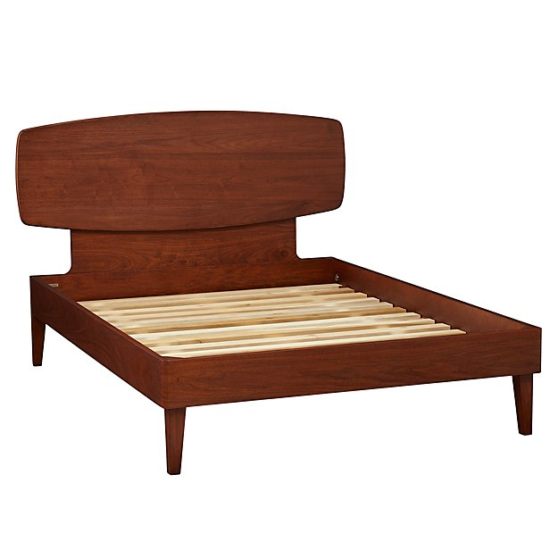 Ellipse Walnut Full Bed