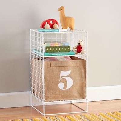 On the Grid Nightstand (White)