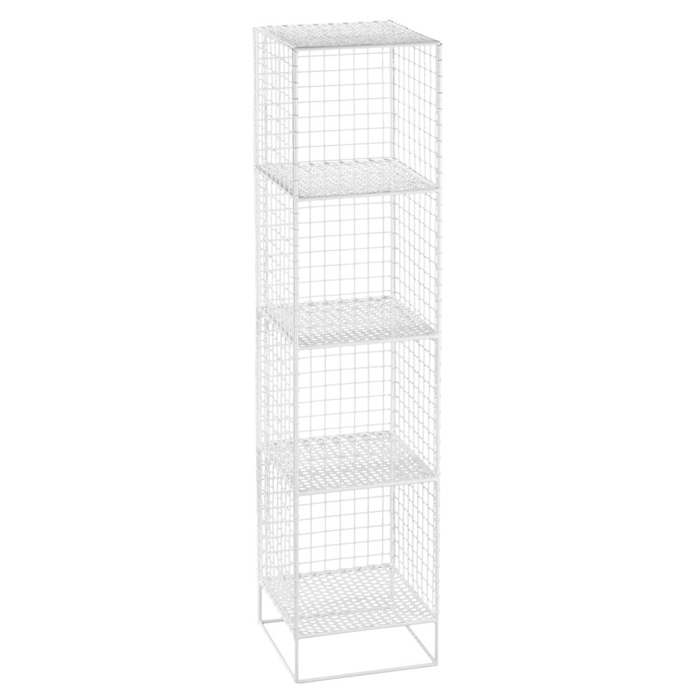 On The Grid 4 Cube Bookcase White The Land Of Nod