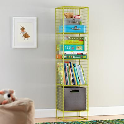 On the Grid Bookcase (Lime)