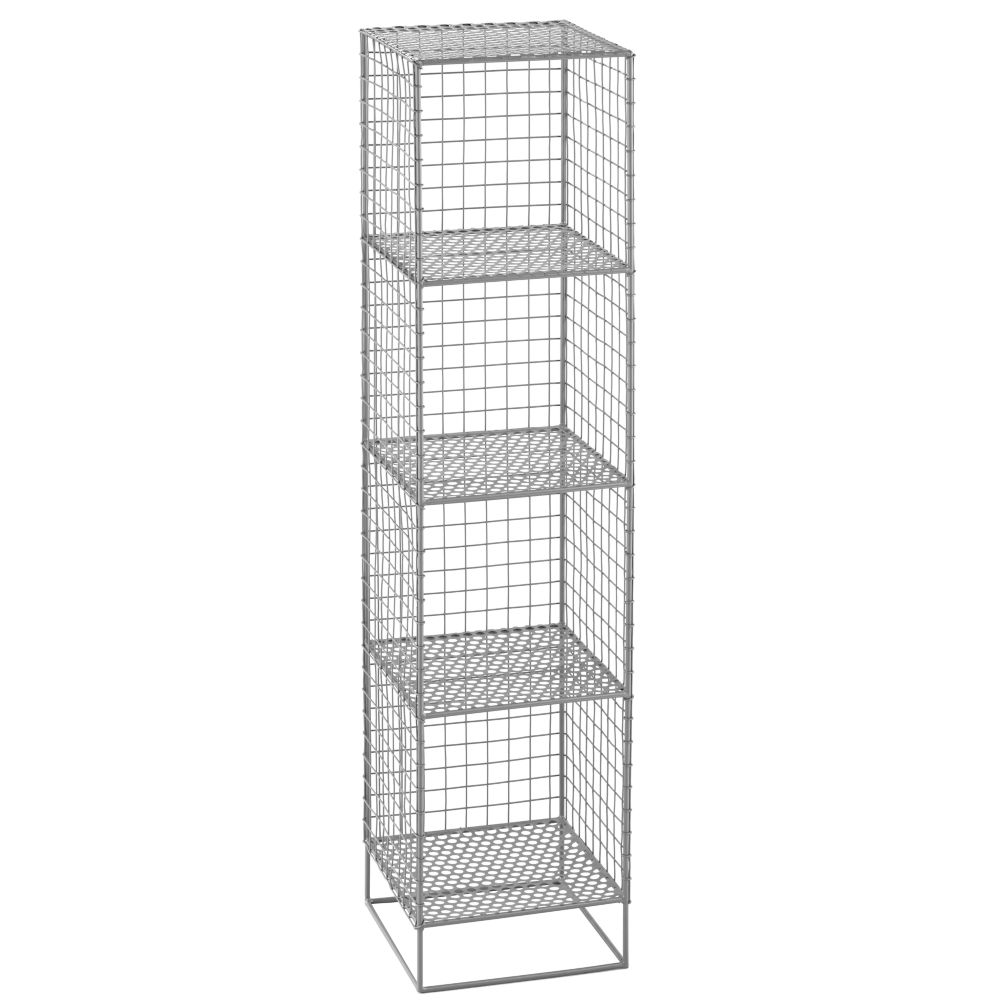 On the Grid 4-Cube Bookcase (Grey)