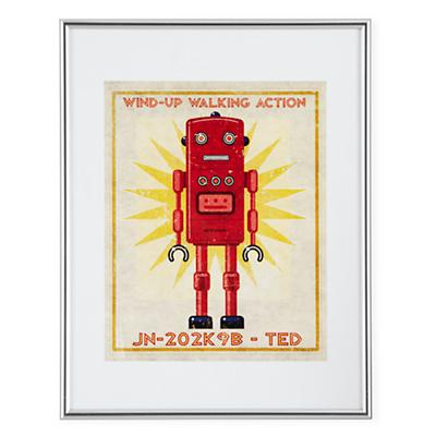 Retrobot Wall Art (Red)