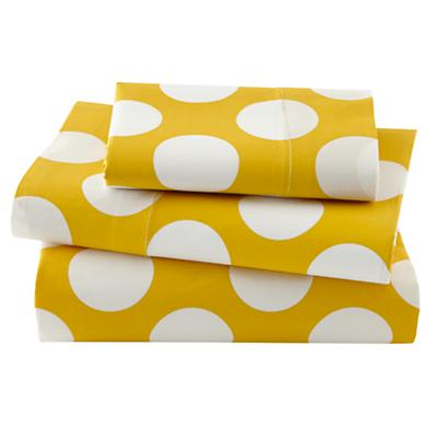 Not a Peep Toddler Sheet Set (Yellow w/White Dot)