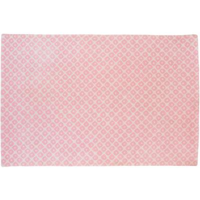 8 x 10' Lt. Pink Diamonds Rug