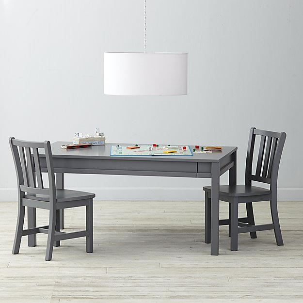 Adjustable Grey Activity Table & Play Chairs Set
