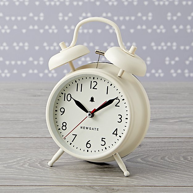 Chime After Chime White Alarm Clock