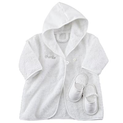 Personalized Bathrobe and Slippers (Grey)